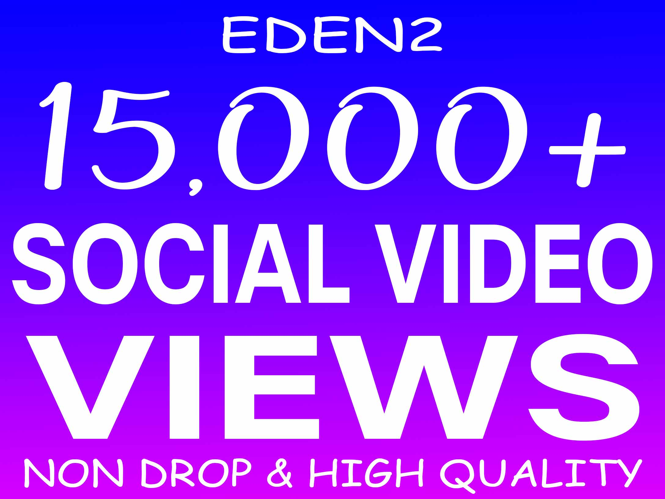 ADD 15K SOCIAL VIDEO VIEWS NON DROP AND HIGH QUALITY PROMOTION WITH INSTANT START