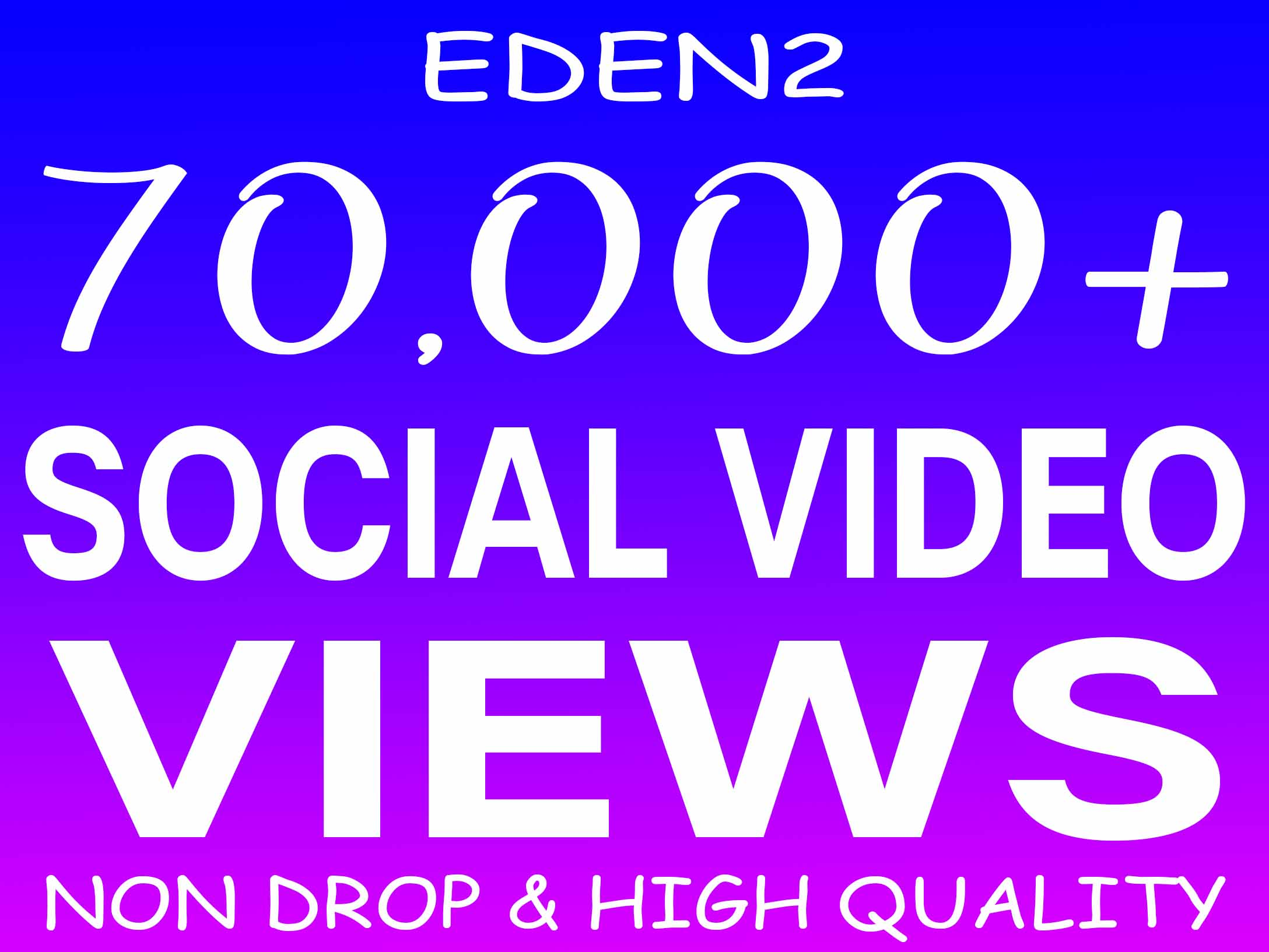 ADD 70K SOCIAL VIDEO VIEWS NON DROP AND HIGH QUALITY PROMOTION WITH INSTANT START