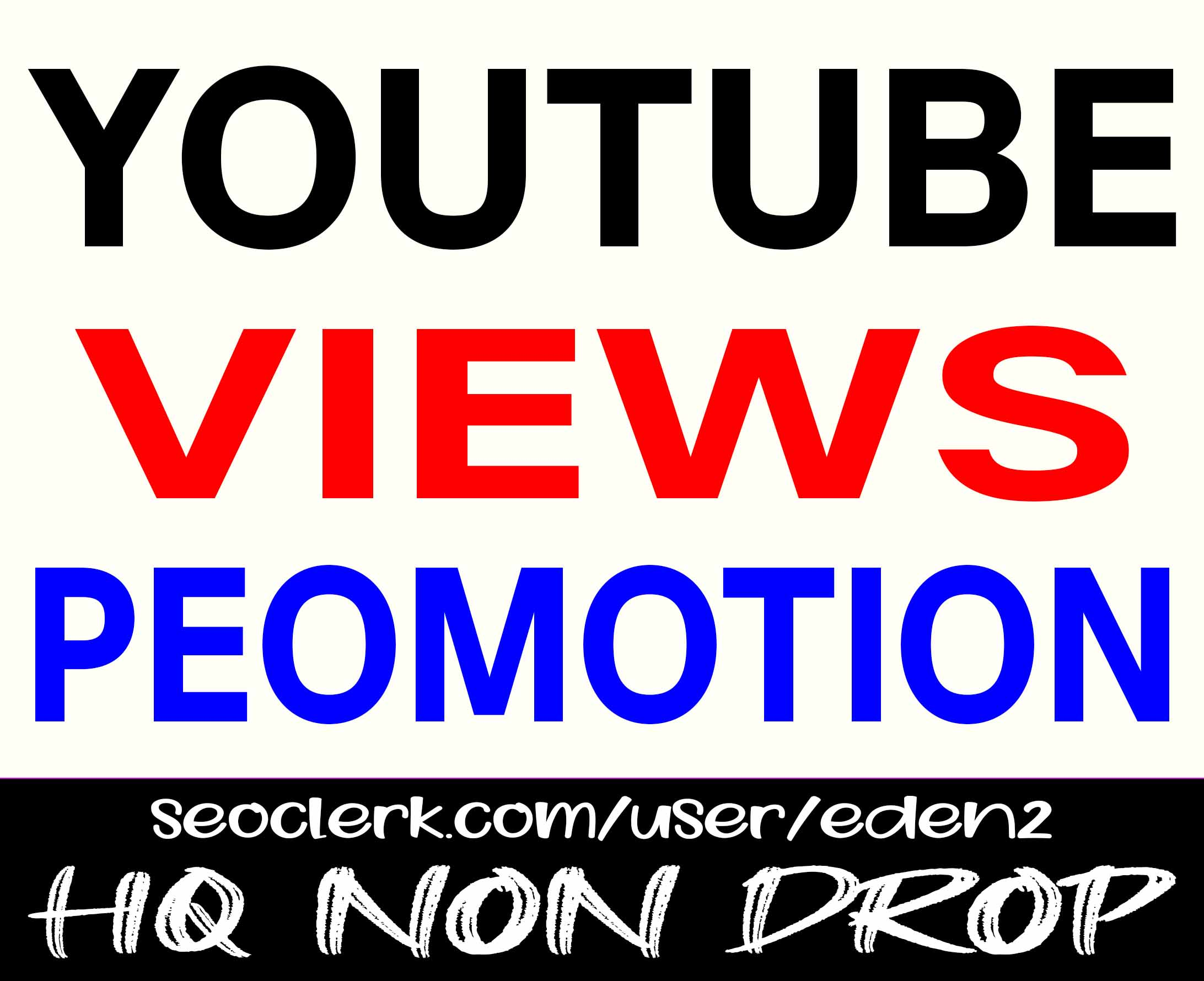 YOUTUBE VIDEO PROMOTION SERVICE HIGH QUALITY AND SUPER FAST WITH NON DROP GUARANTEED