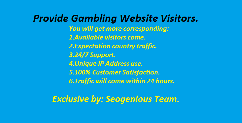 Provide Gambling Website Visitors