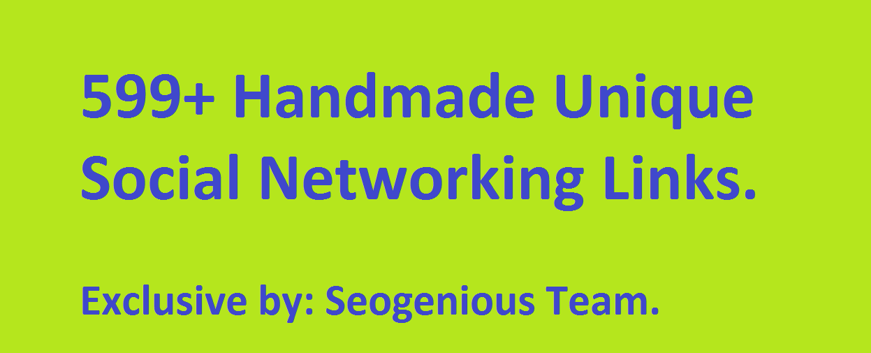 599+ Handmade Unique Social Networking Links