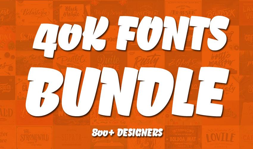I will deliver 40K Font Bundle