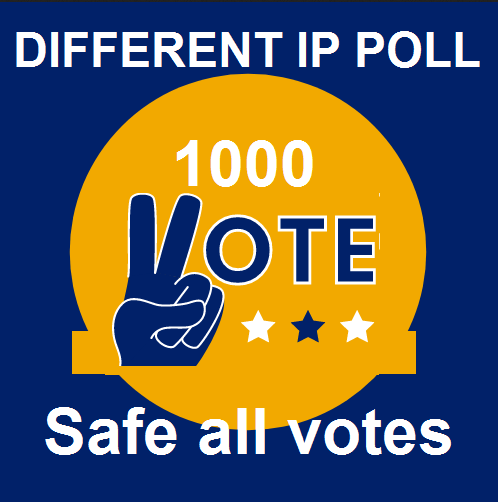 Manually 1000 Different ip online voting poll contest