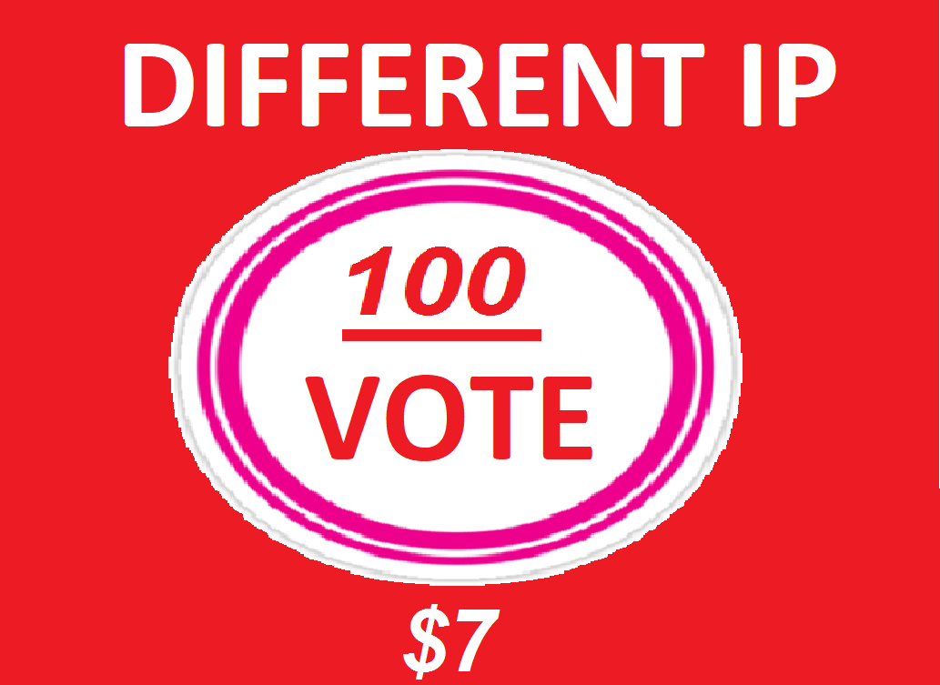 Manually Super Fast 100 Different USA ip online contest votes