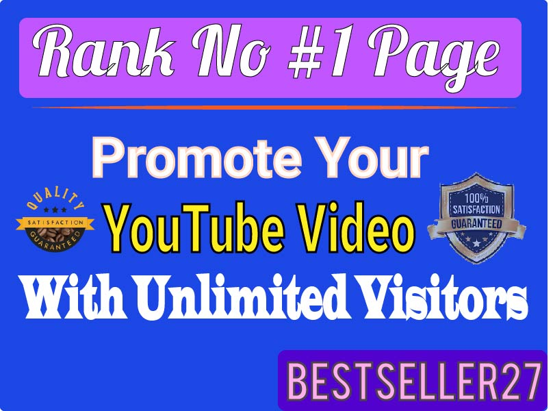YouTube Video Marketing Promotion Fully Safe All Package