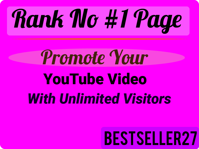 YouTube Chanel and Video Promotion Real User