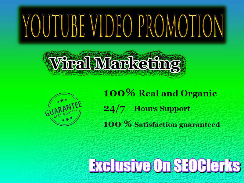 YouTube Chanel or Video Promotion Organic Visitors