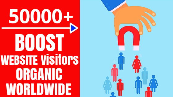 Drive Real 50000+ WorldWide Visitors to your Website For 30 days