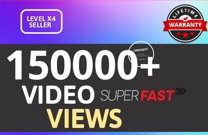 Get 150000+ HQ Views From REAL WorldWide with Lifetime NON DROP Guarantee