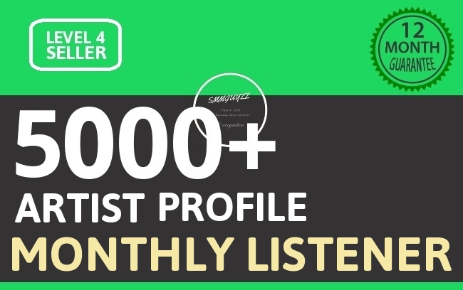 Music Promotion 5000+ Artist PROFILE Unique Monthly Listeners With Lifetime Guarantee