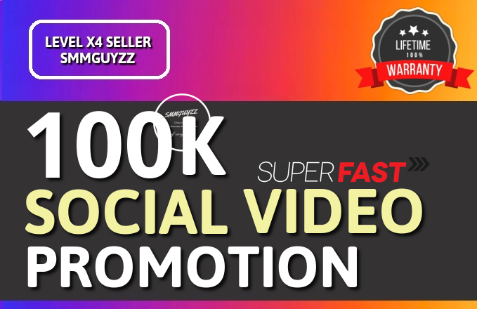 Fast SOCIAL VIDEO Promotion Organic And Lifetime Guaranteed