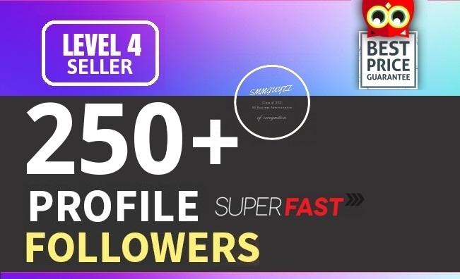 Add 250+ High Quality Fast Profile Followers