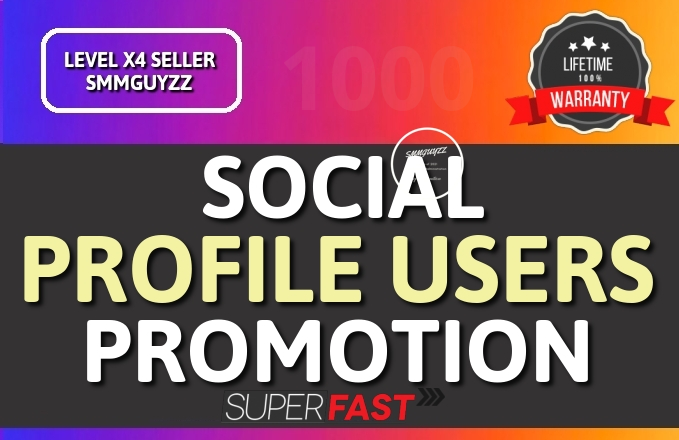 Get Social Profile Followers High Quality Promotion