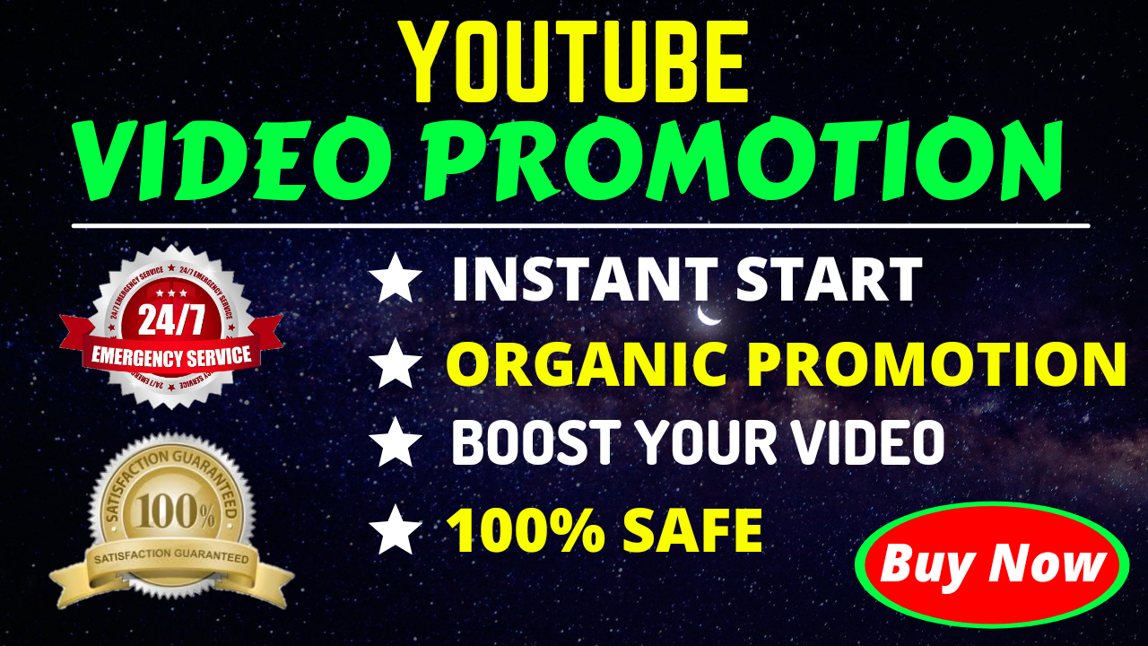 Youtube Video Promotion Marketing Exclusive Service