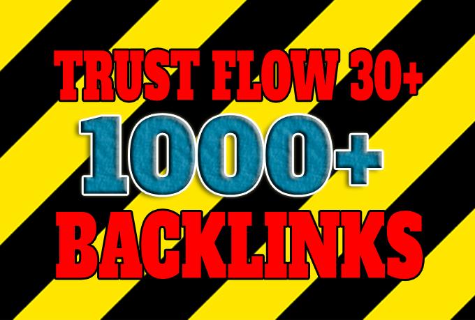 Get 1000+ high Trust Flow TF30+ backlinks