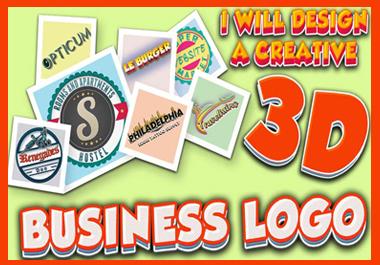 I will design a creative 3d business logo