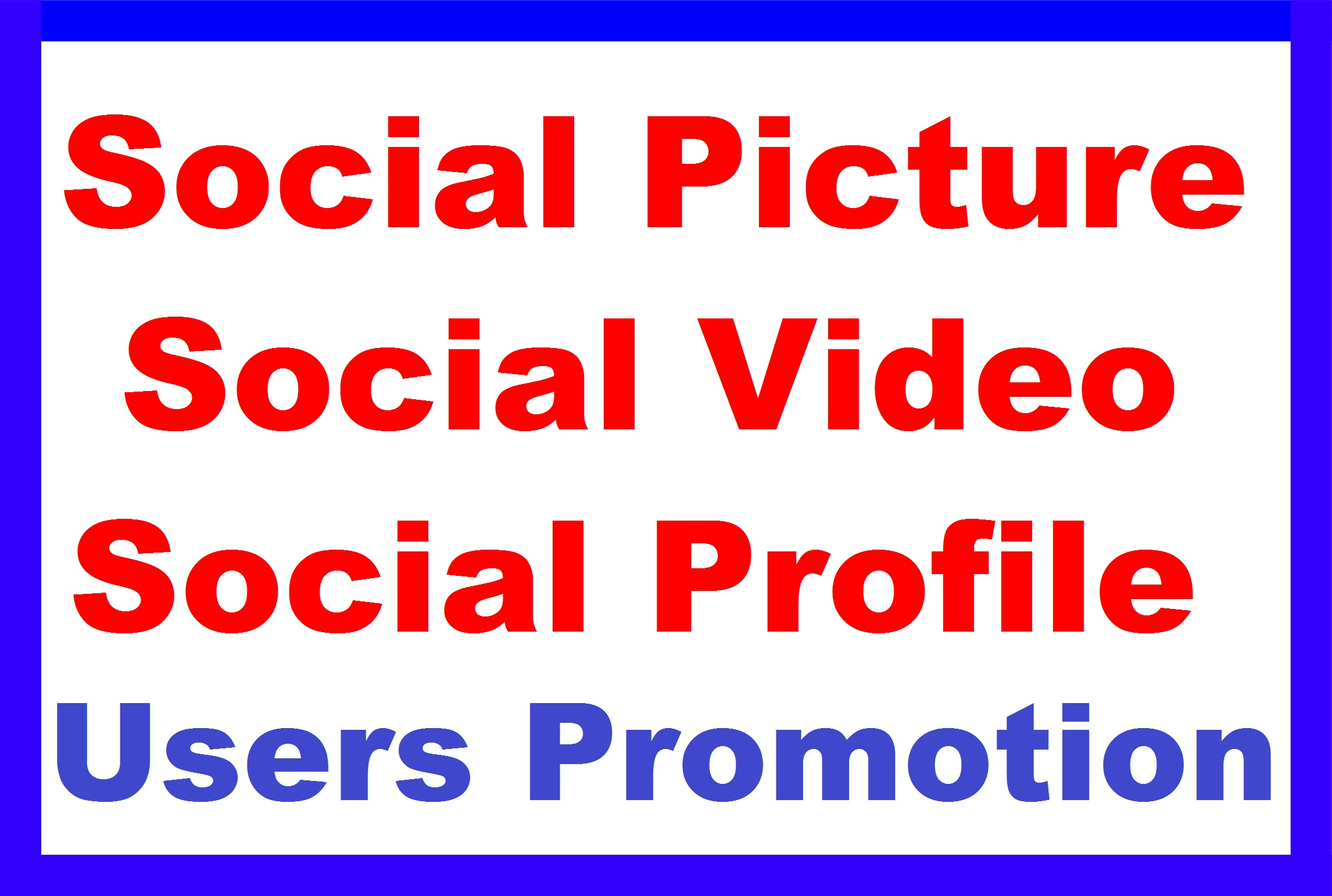 Fast Social Media Profile Users And Photo And Video Promotion