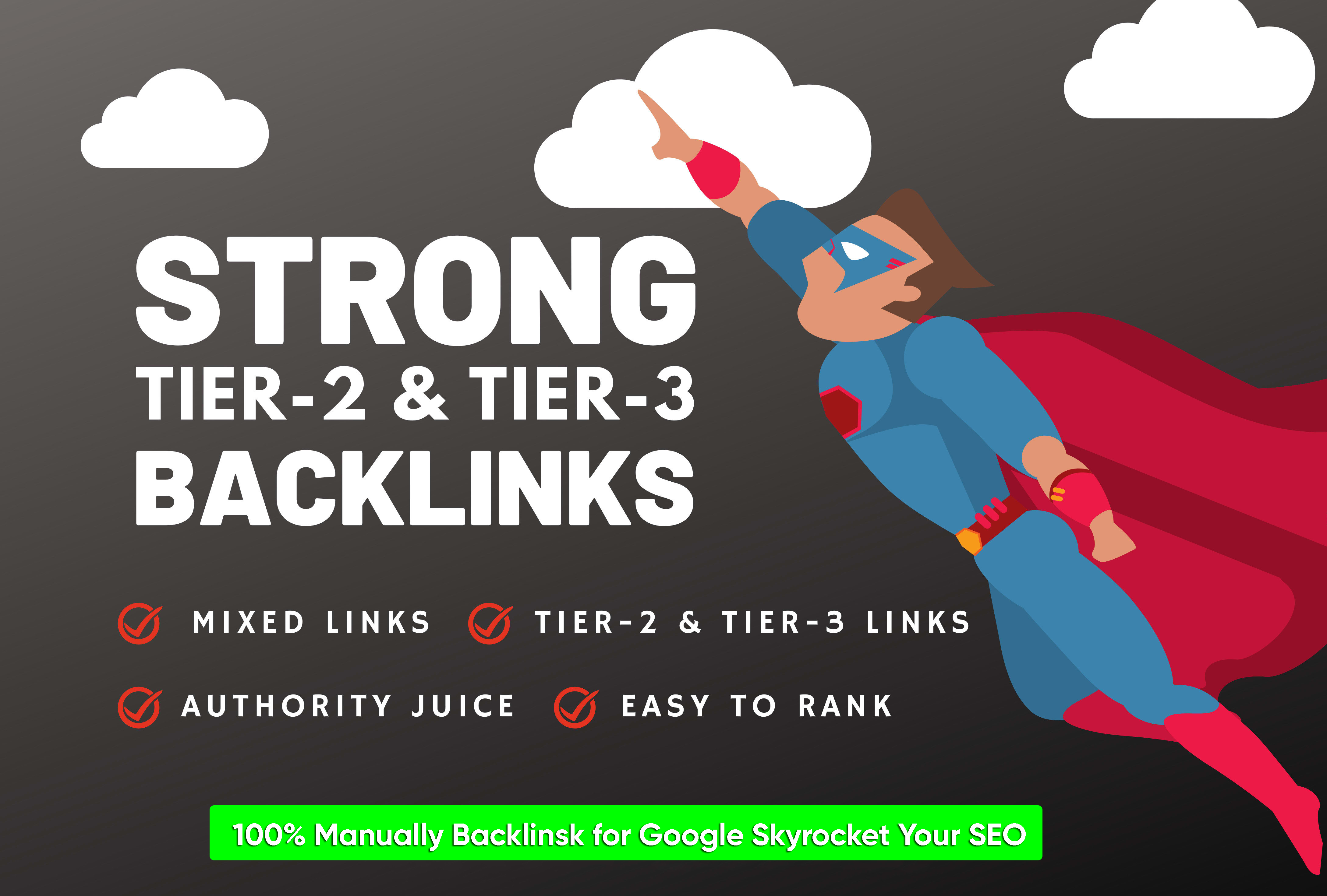 provide 200 tier2 High Quality Backlinks and 10100 tier3 backlinks for fast ranking
