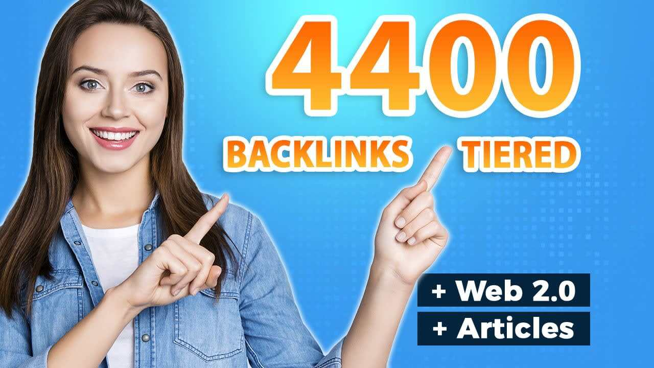 Create 4400 ultra SEO contextual backlinks tiered