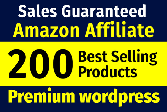 Build a guarantee income affiliate website that will be selling Amazon products