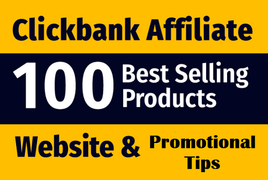 Create guarantee income website selling best products from clickbank affiliate website