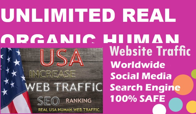 Drive unlimited real organic and social media traffic that guarantee result into Affiliate website