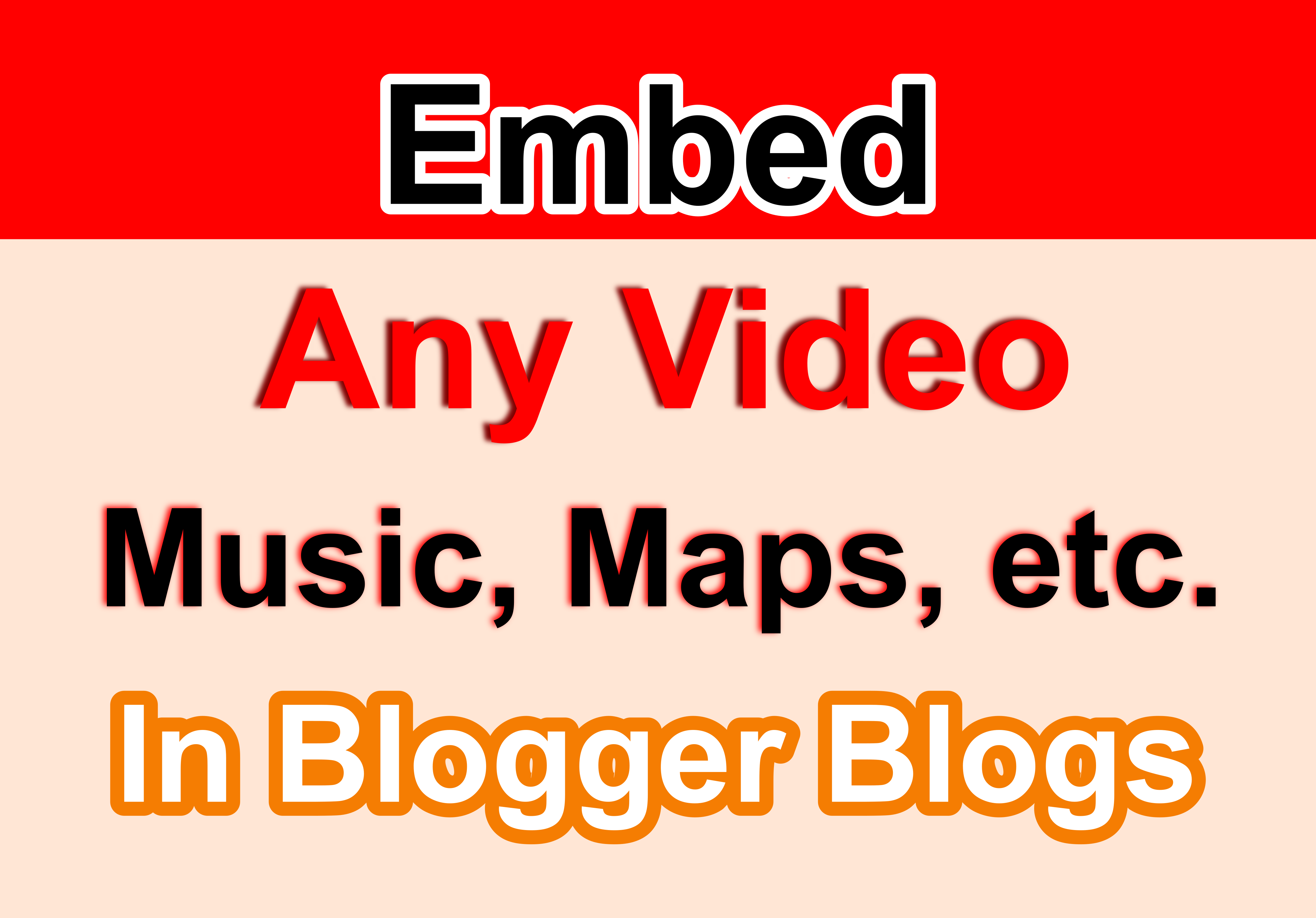 Manually submit to embed your video in 15+ blogger blogs