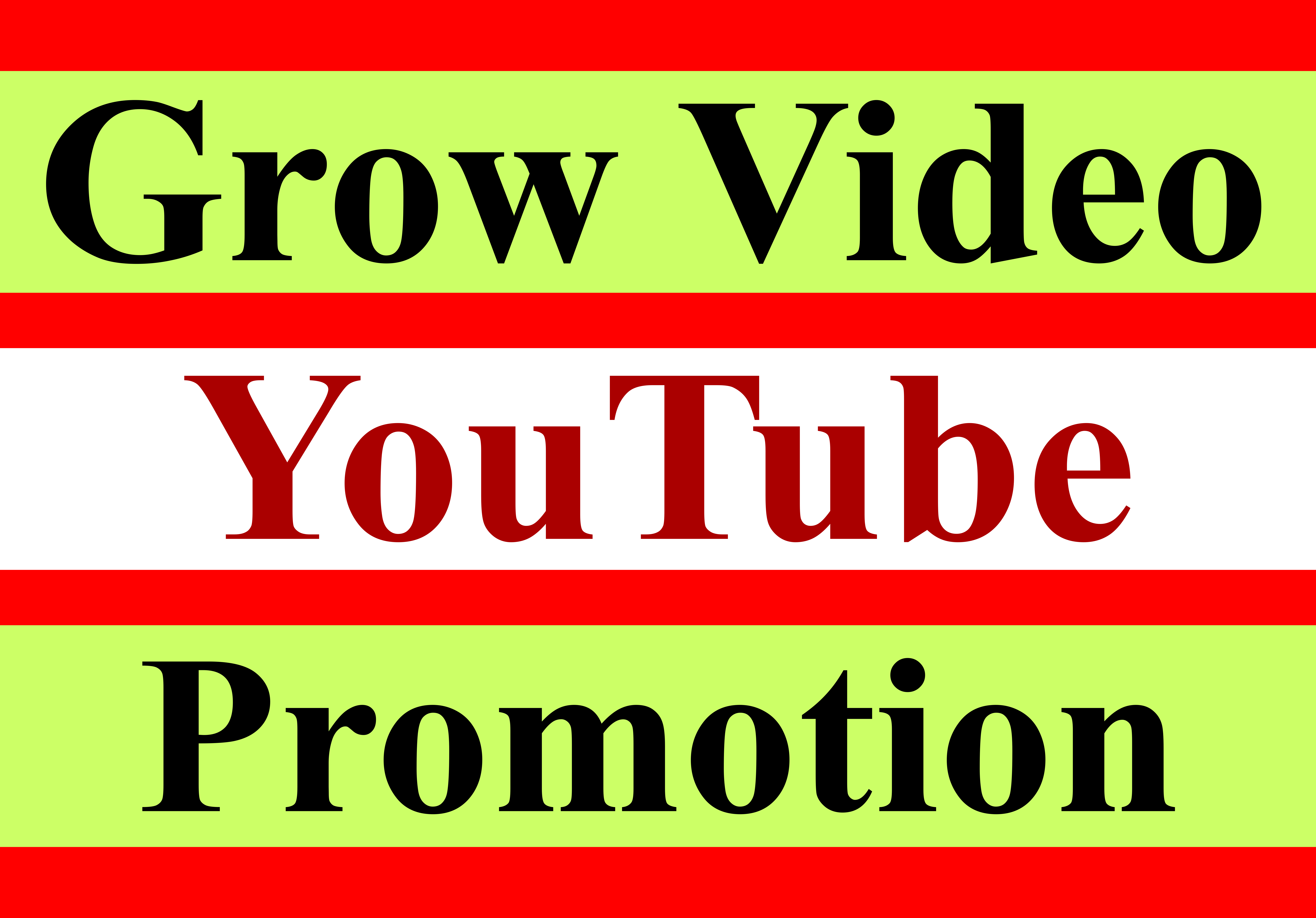 Youtube video permanent promotion and marketing