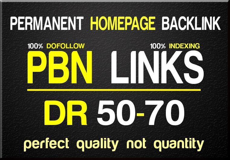 Create 50 High Quality HomePage DR Permanent Backlinks