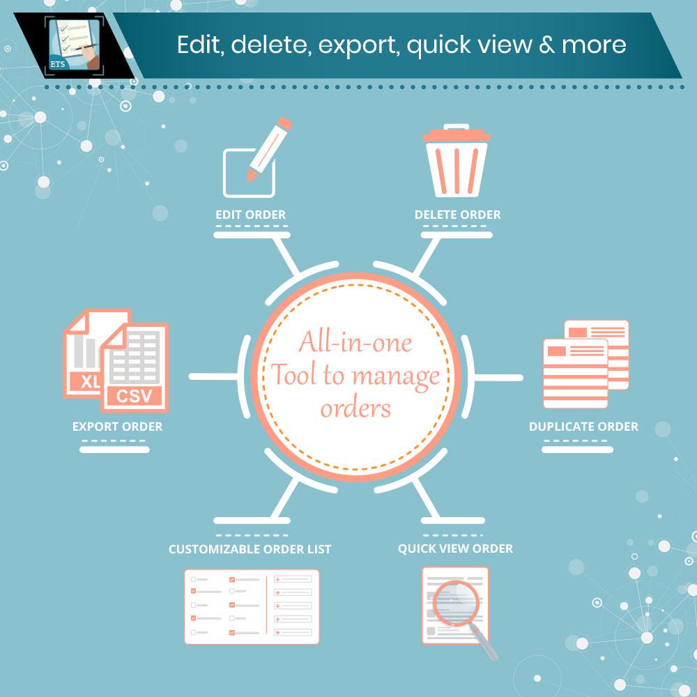 Prestashop module ETS Order Manager Edit,  delete,  export & more