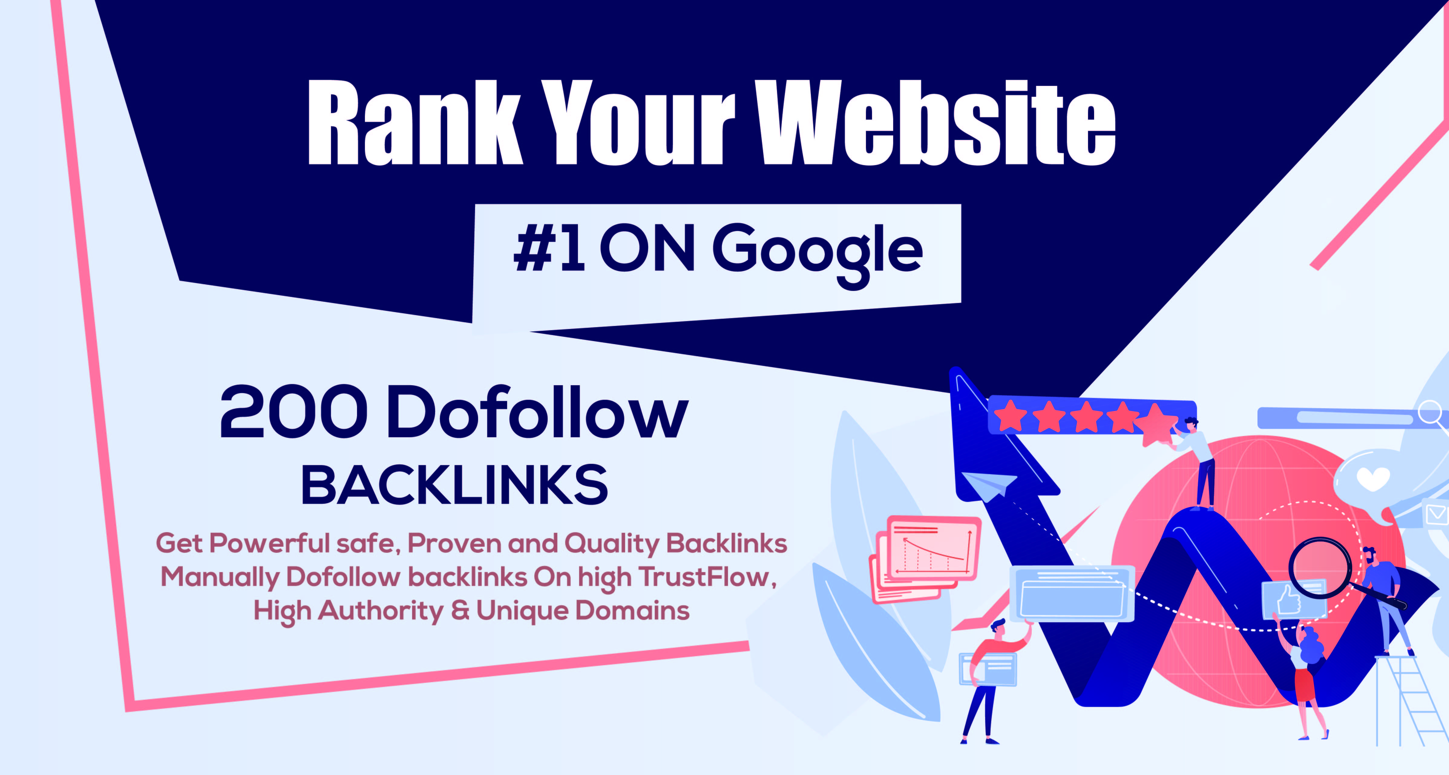 200 Unique Domain High Quality Backlinks Mix Properties Improves SEO In 2021
