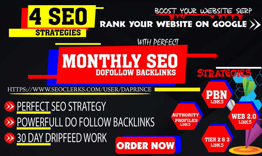 Rank your website on Google with perfect 30 Days SEO backlinks