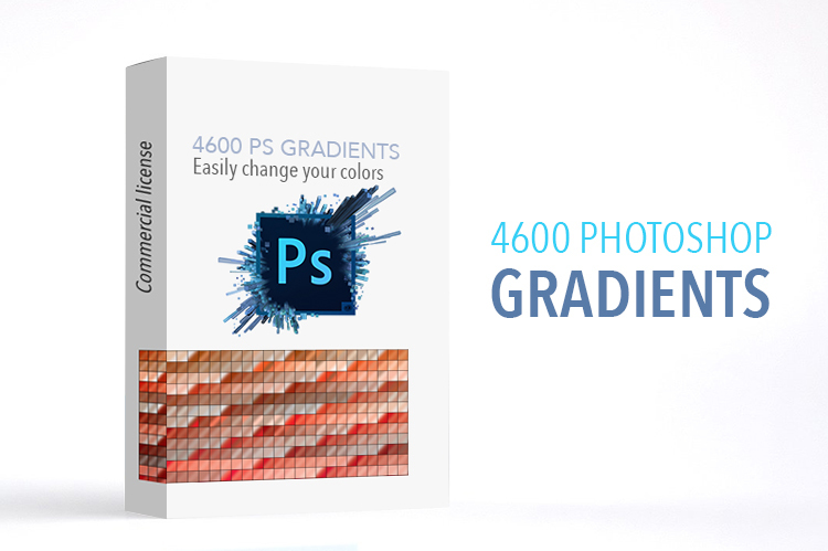 Get 4600 Photoshop Gradients Easily Change your Color