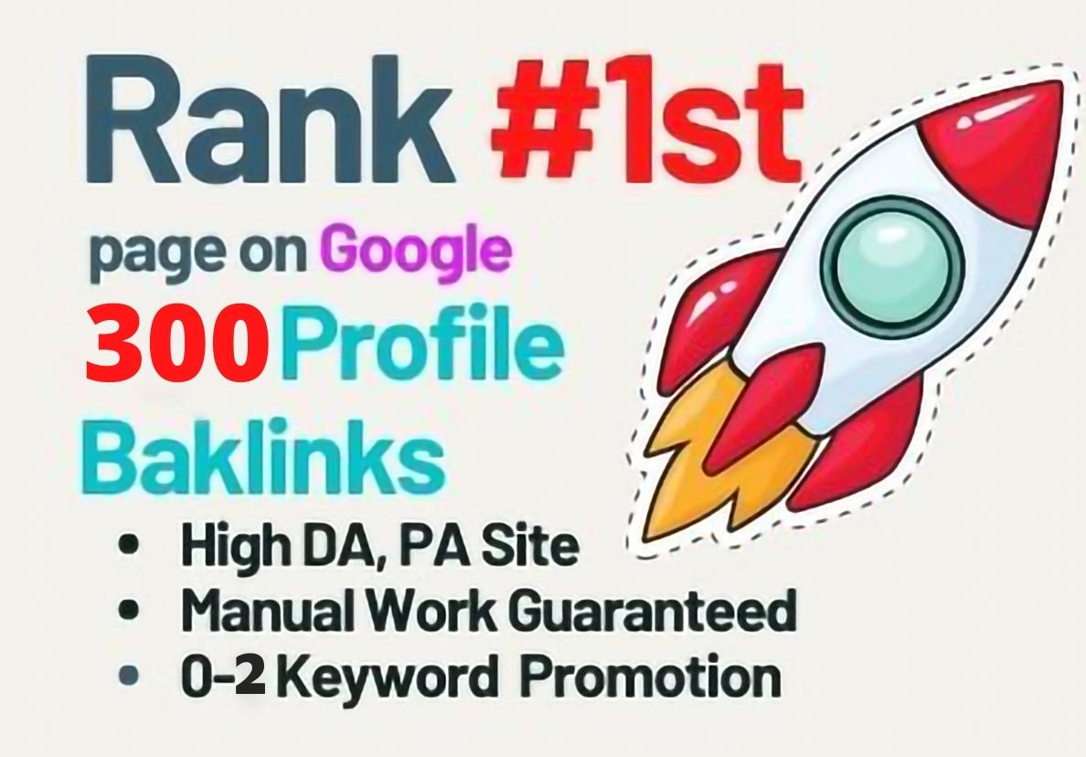 I will do 300+ High Authority SEO Profile Backlinks
