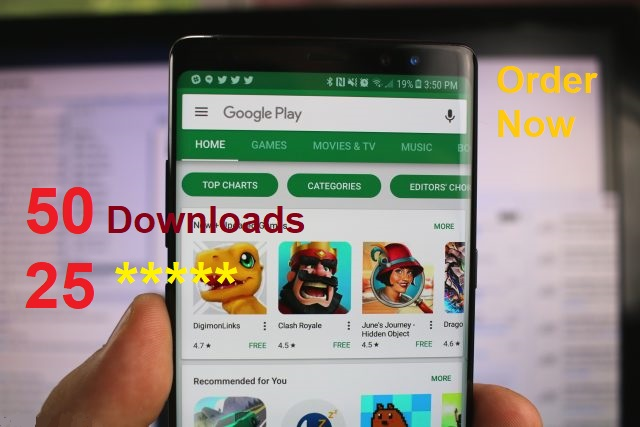 promote to get 50 Downloads+25 comments+5satrs for android app on google pleystore