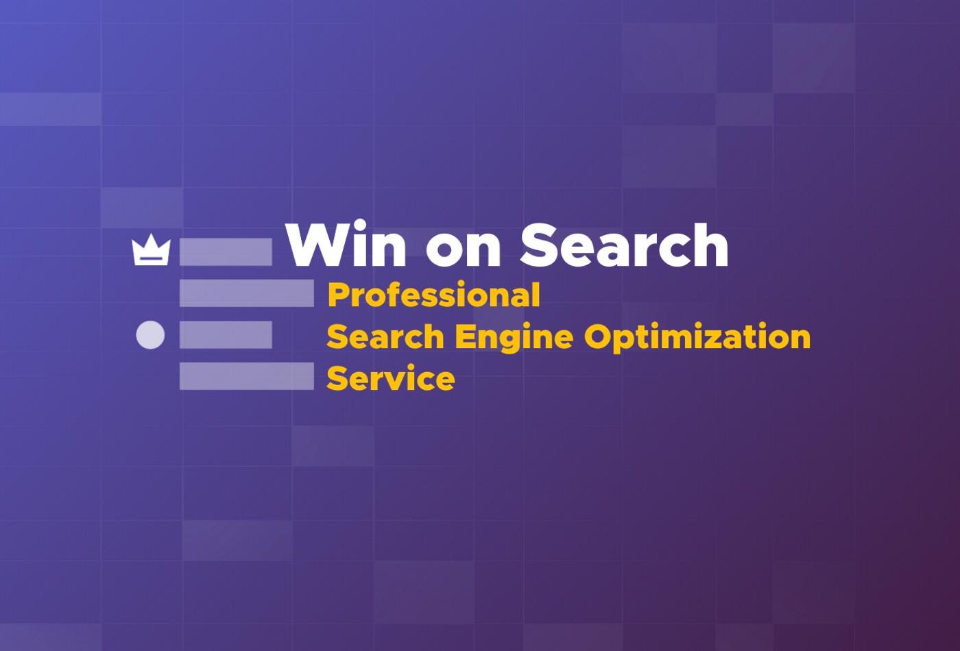 Professional Search Engine Optimization service