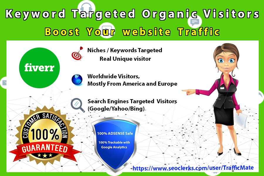 boost website traffic with keyword targeted organic visitors