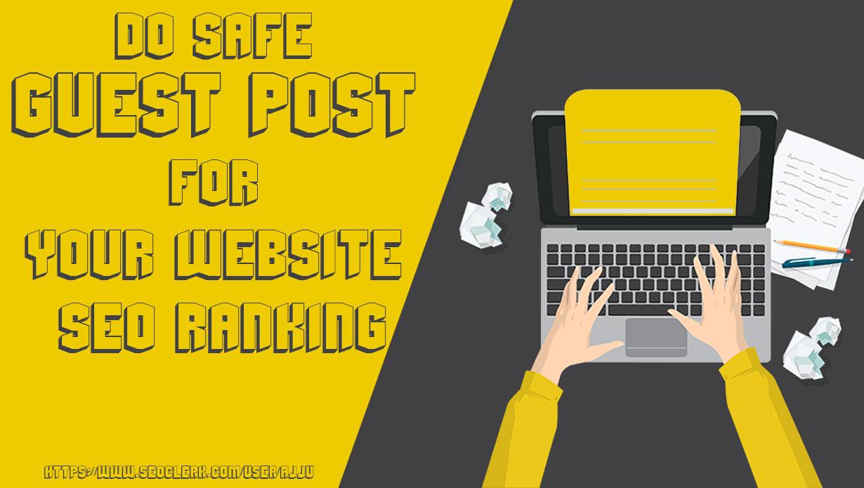 Do SEO guest post on a high domain authority blog