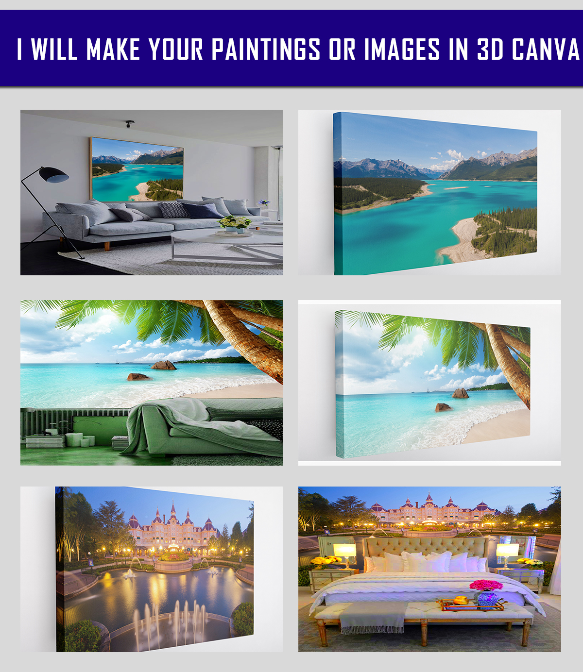 i will make Creative Art Painting Design With 3D canva