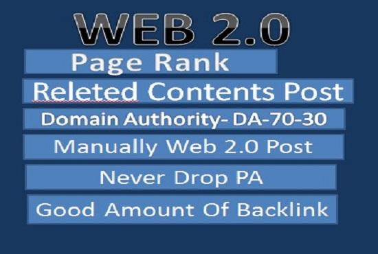 I will create manually High quality 50 web 2.0 blogs High DA-PA