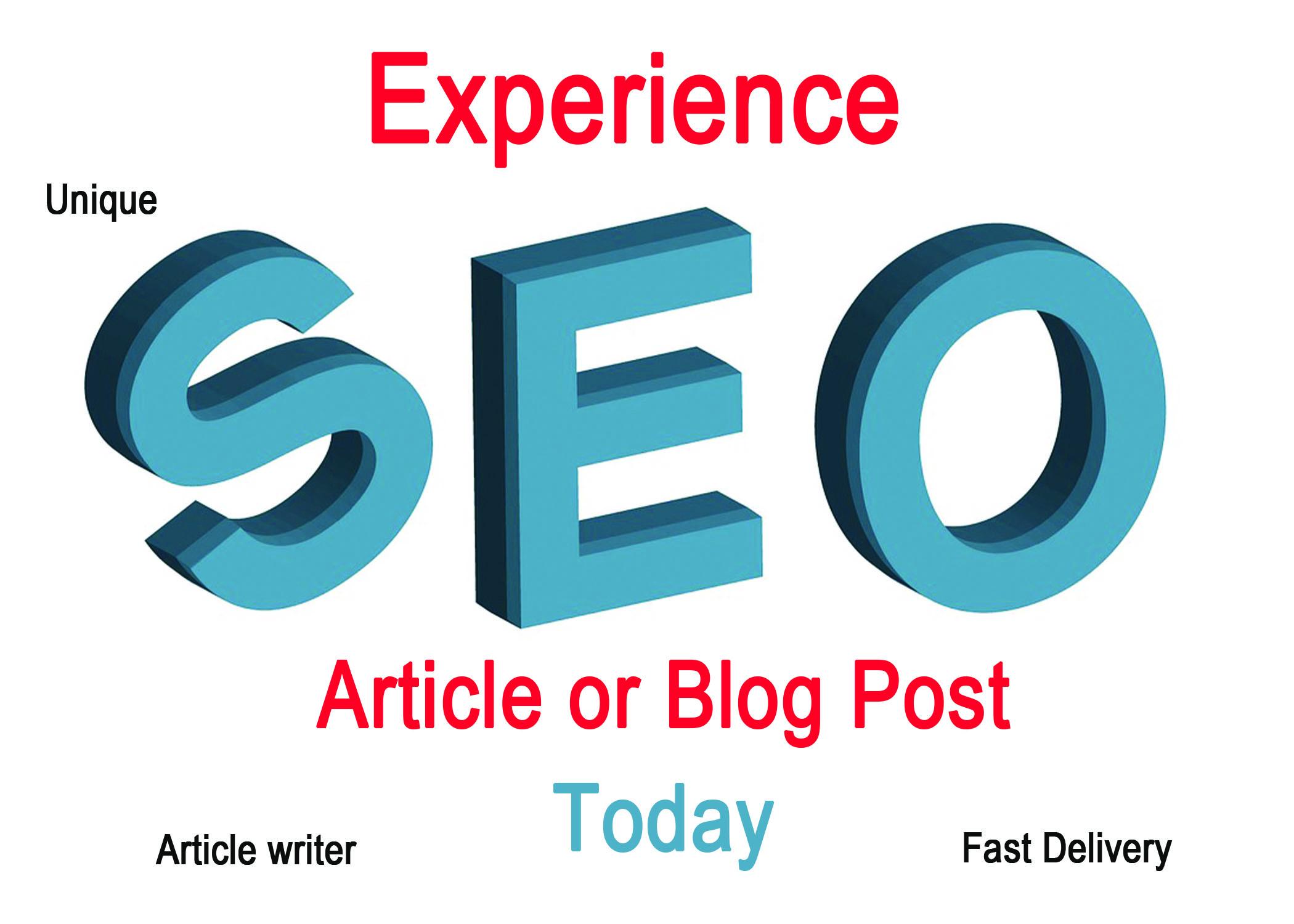Write Original 700 Words SEO Article or Blog Post