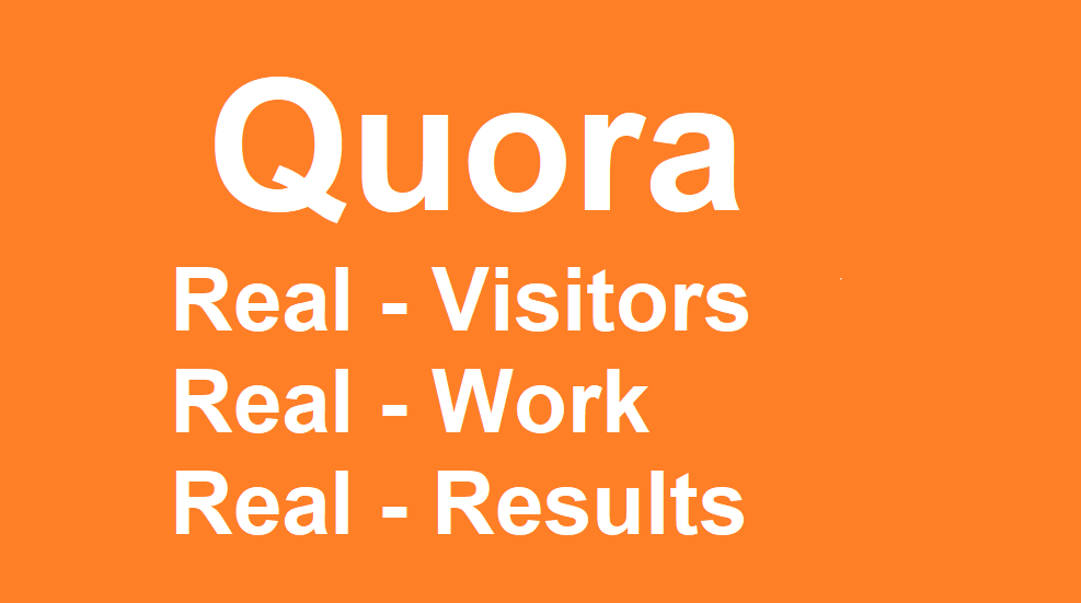 Website Promotion on QUORA with manual highquality Answers with keywords with live Contextual Links