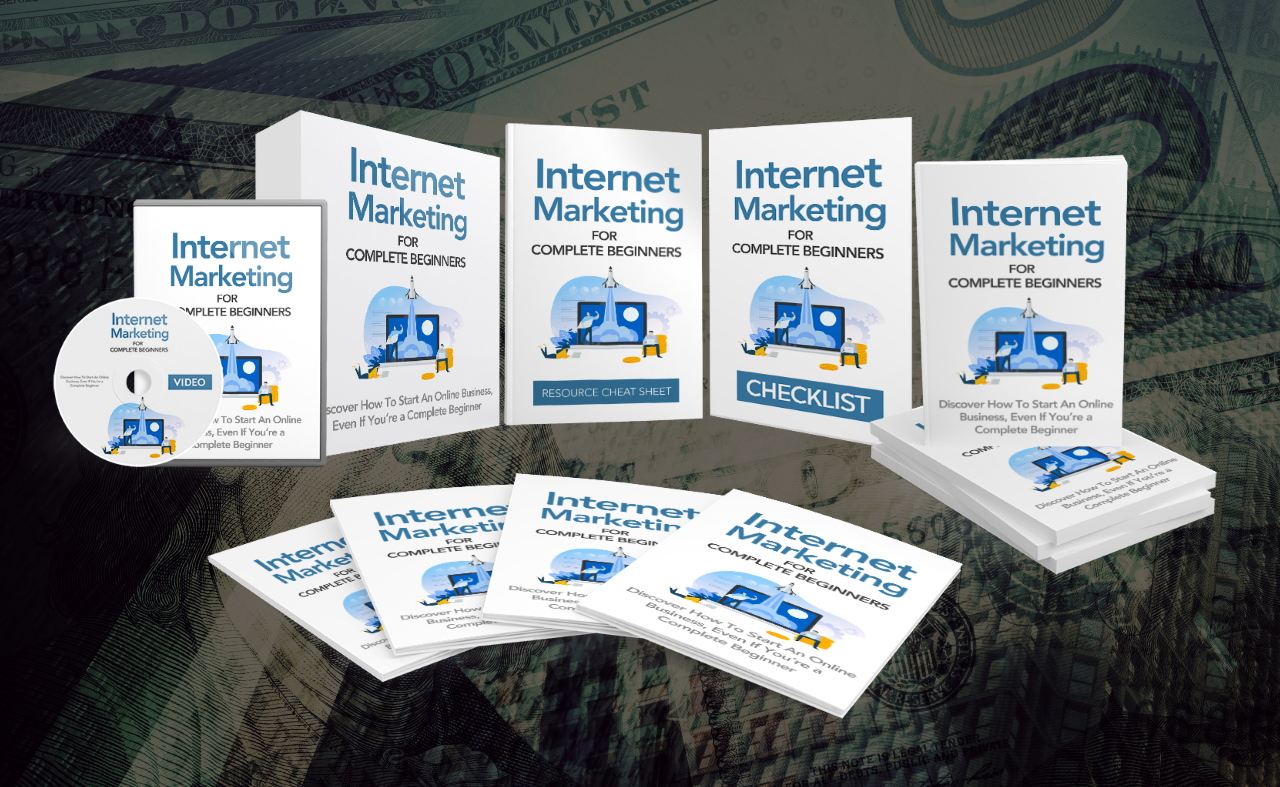 Internet Marketing For Beginners,  Video Course & Reselling Rights Instant Download