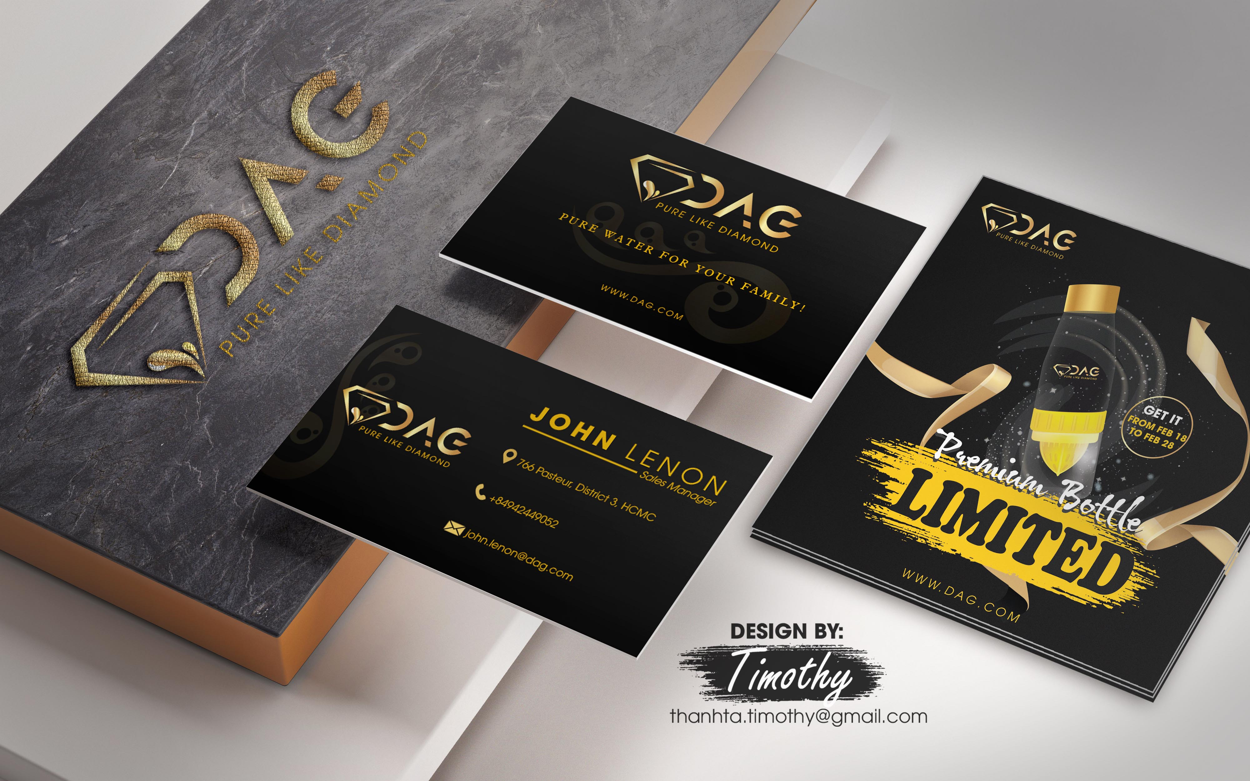 BEST COMBO 3 IN 1 LUXURY Logo+Business card+Flyer for your brand