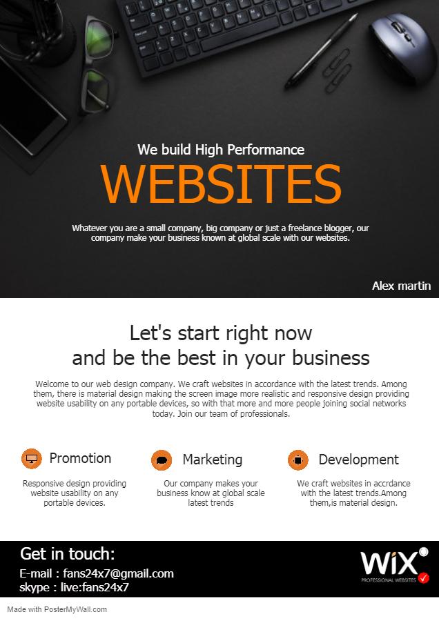 I will design wix website or redesign with wix website builder