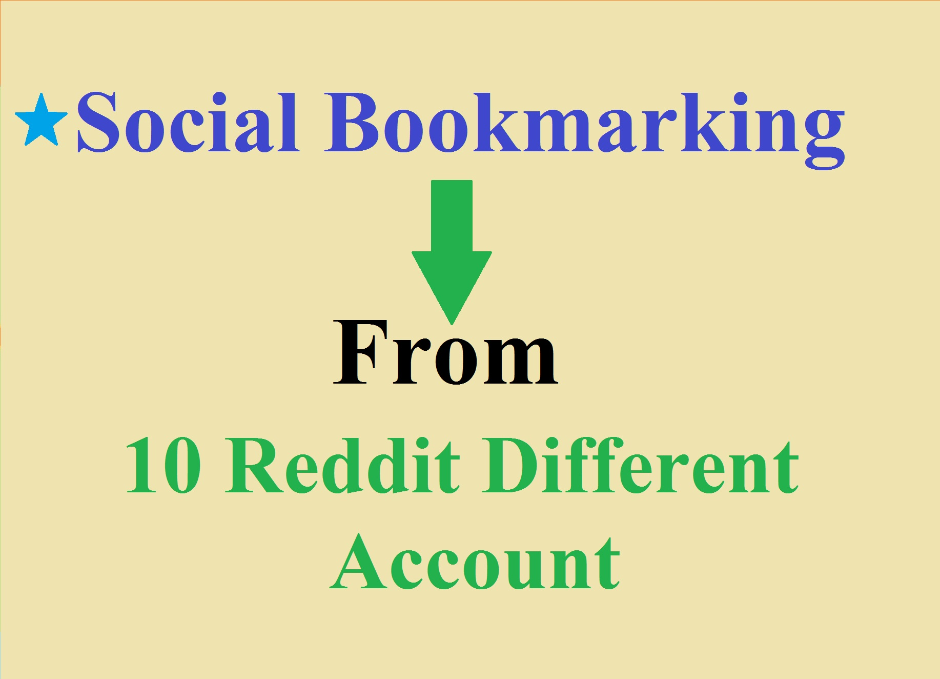 Manually Provide 10 Social Bookmarking From Redit