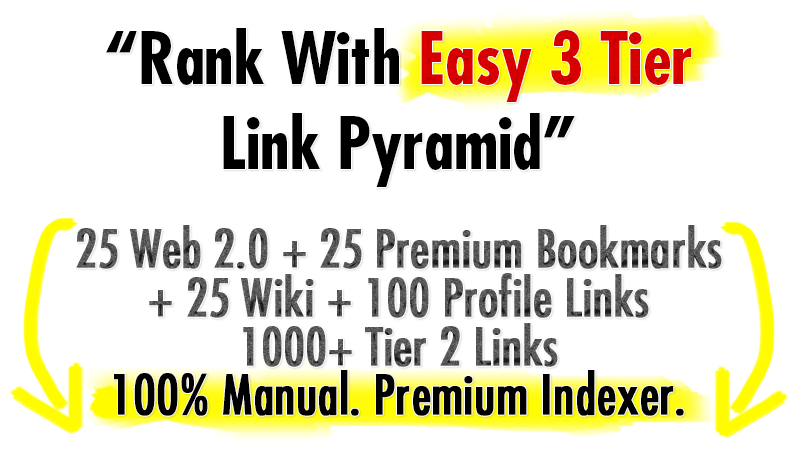 175+ High Authority 2 Tier Backlinks To Rank 1
