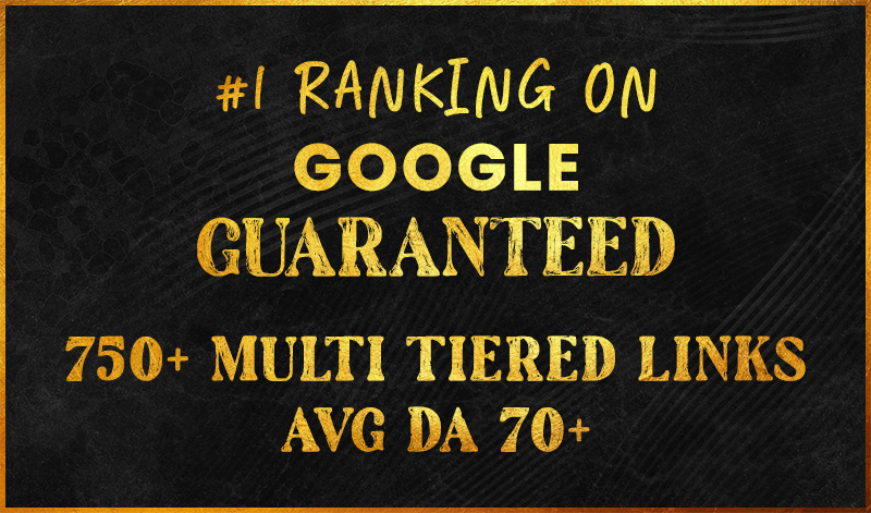 Guaranteed 1st Page Rank Link Pyramid for 5 Keywords