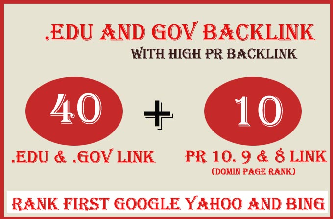 Boost Your Website Ranking With 40 Edu Gov with 10 High PR Backlinks