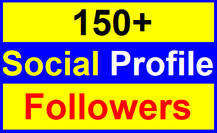 Add 150+High Quality Profile Followers With Lifetimes Refill Guaranteed Just